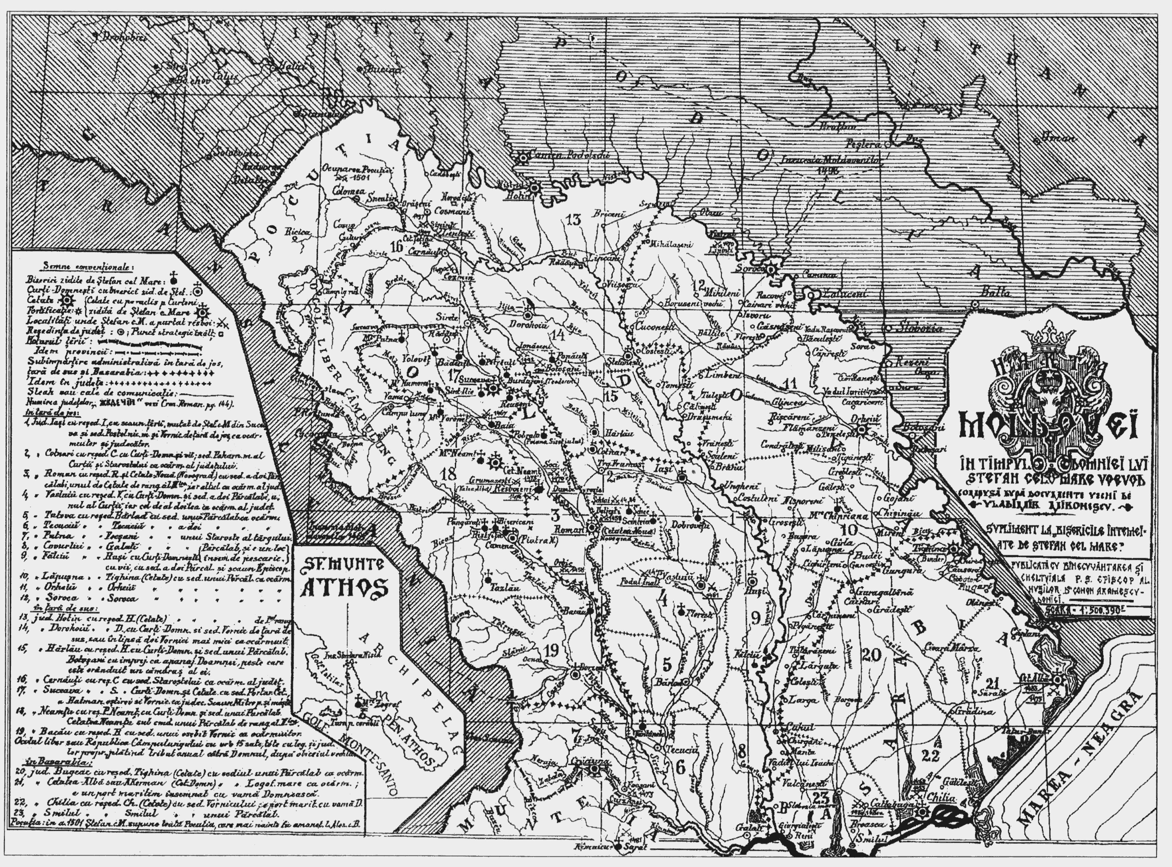 Harta Moldovei în timpul lui Ştefan cel Mare | Melidonium