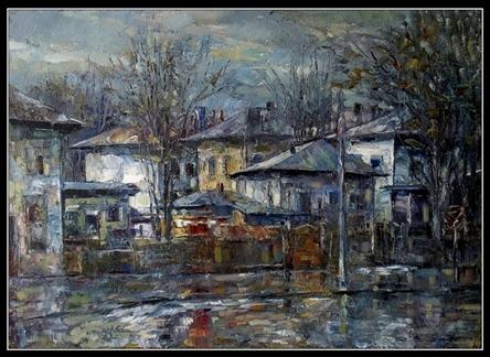 Mihai Olteanu - peisaj din Roman