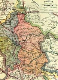 Harta  judetului Roman