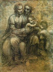 180px-Leonardo_-_St._Anne_cartoon