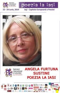 ANGELA FURTUNA SUSTINE POEZIA LA IASI.